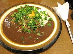 料理:ねぎ玉カレー600円@チャーリーブラウン・サンセルコ・ゴールド免許センター