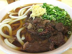 料理:肉うどん(中)600円@中々うどん・博多区竹下