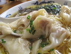ランチ:肉福ワンタン麺の肉雲呑@黄金の福ワンタンまくり