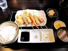 ランチ:日替わり串揚げ定食780円@博多つけ蕎麦・串揚げ・博多大乗路・櫛田神社