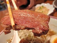 料理:ポークの角煮汁そばの角煮2@張子房・福岡