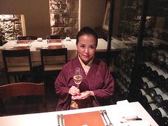 店内:ワインセラーの隣@ラ・ターブル・ド・プロヴァンス・赤坂