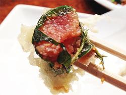 10明太子の天ぷらがん見@屋台・司