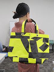 2NEXCO西日本・アップサイクル・トートバッグ・横断幕@SAPA麺王決定線2012