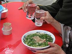 料理:焼酎とラーメン@元祖ラーメン長浜家