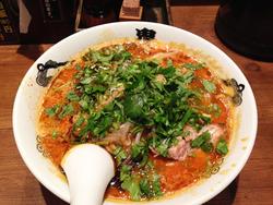 12パクチーカラシビ味噌らー麺880円@鬼金棒(きかんぼう)
