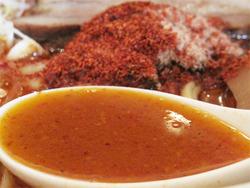 11辛辛ラーメンスープ@麺や兼虎