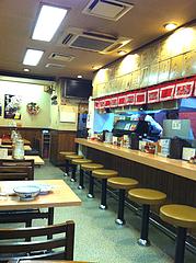 1店内:カウンター席@元祖赤のれん節ちゃんラーメン・天神本店