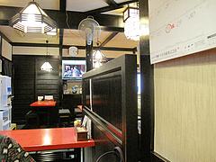 店内:テーブル席@そば処まさや・薬院