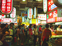 士林夜市の食堂街@台湾・台北