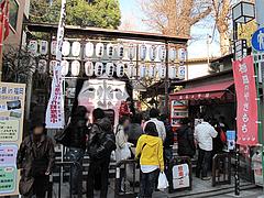櫛田のやきもちの行列@櫛田神社入り口