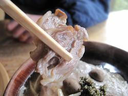 21自然薯と地鶏蕎麦(温)@蕎麦・文治郎