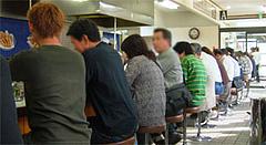 天ぷらひらおの店内後ろ@福岡空港近く