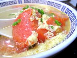 8トマトと玉子湯麺具@歓迎イ尓