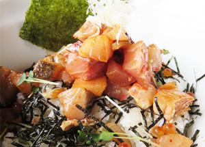 11ぶった切り海鮮丼ピリ辛@博多ハウス