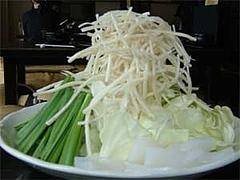 もつ鍋『やま中』のモツ鍋の野菜盛り@福岡市・大橋