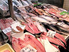 鰤(ぶり)の半身や切り身・博多雑煮@年末の柳橋連合市場・福岡2010