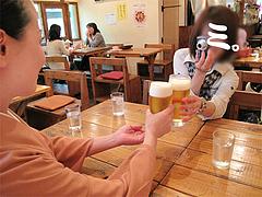 料理:生ビール乾杯@タイ料理オシャ・大橋