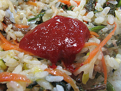 9ランチ:コチュジャン混ぜる@ビビンバ・韓国冷麺専門店・菜ずき・天神