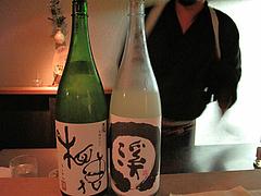 料理:日本酒2種@酒陶・築地・平尾