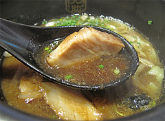 ランチ:つけ汁のコロチャー@つけ麺・博多元助・天神西通り店