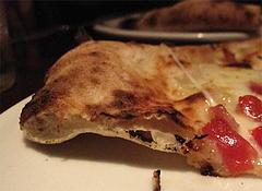 ディナー:マルゲリータ断面だ@Pizzeria Da Gaetano(ピッツェリア・ダ・ガエターノ)・薬院・福岡