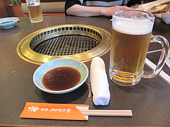 4店内:テーブル席@焼肉スタミナ亭・清川