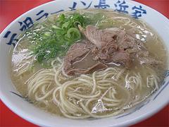 料理:ラーメン400円@元祖長浜家ラーメン・中央区港