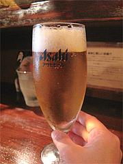 料理:ランチビール250円@串揚げ・ひょうたん・赤坂店