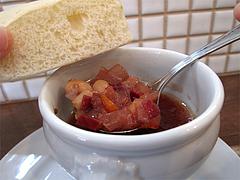 17ランチ:生ハムとビーツのスープ・自家製パン@食堂シェモア・フレンチ・イタリアン・洋食