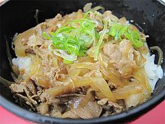 料理:肉飯セットの特製豚丼@長浜大将・長浜ラーメン街