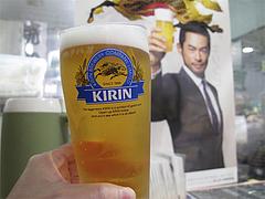 料理:小ビール@一竜・川端商店街