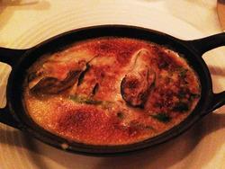 6宮古の牡蠣のグラティネ茸風味@オザミデヴァン銀座