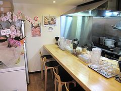 店内:カウンター席のみ@つけ麺・麺屋・光喜・福岡
