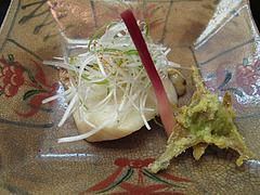 料理:あらの西京漬とふきのとうの天ぷら@日本料理・花柚(はなゆう)・倉敷