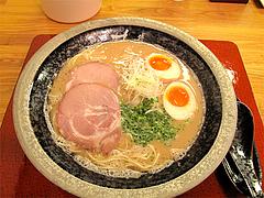ランチ:とんこつ煮玉子ラーメン600円@あずみ(赤坂井田らーめん)・対馬小路
