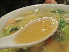 9料理:海鮮あんかけ汁そばのスープ@チャイニーズキッチン CHINA(チャイナ)