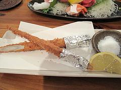 8料理:新ごぼう1本揚げ@海鮮居酒屋つねちゃん・姪浜