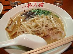 料理:入魂らーめん390円+もやし80円@らーめん亭・福岡魂・六本松