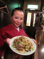 6ランチ:博多皿うどん600円@焼鳥パイレーツ・ジュジュ・天神今泉