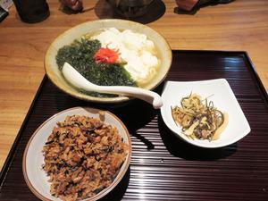 7アーサとゆし豆腐そば680円+150円@行集談四朗商店