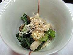 5宴会:小菜 小松菜とうす揚煮びたし@観山荘別館・小倉・料亭