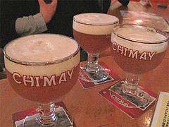 4ベルギーのシメイビール・ホワイト・生(CHIMAY)@ベースキャンプ・薬膳カレー・大名