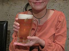 料理:生ビール飲む@餃子・高砂遊心