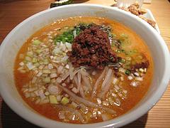 9ランチ:赤担々麺550円@AKAMARU食堂・電気ビル・渡辺通