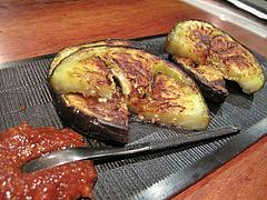 12鶏料理:賀茂茄子のステーキ@焼鳥・sumiyaki燈(炭焼きあかり)・丸太町・京都
