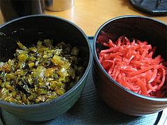 料理:辛子高菜と紅しょうが@めんとく屋