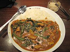 料理:牛もつほうれん草カレー@COCO壱番屋(ココイチ)