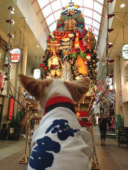 13川端商店街・飾り山@アンディ・水法被・リリコピリカ