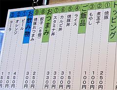 4メニュー:トッピング・ご飯・つまみ・ドリンク@博多六分儀ラーメン・西片江店